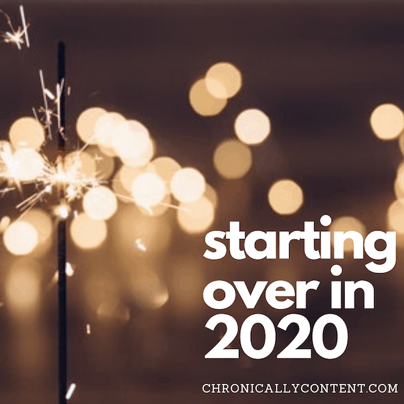 starting over in 2020
