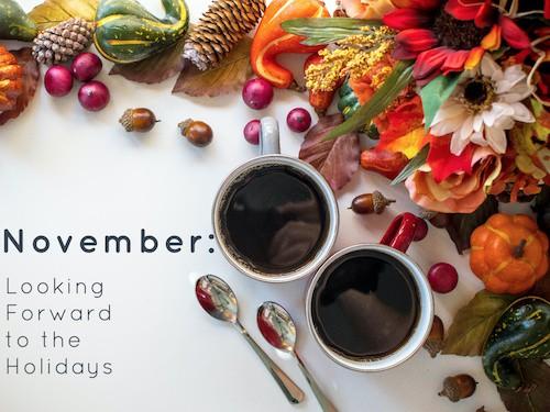 November Thanksgiving decor