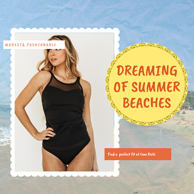 Dreaming of Summer Beaches black swimsuit
