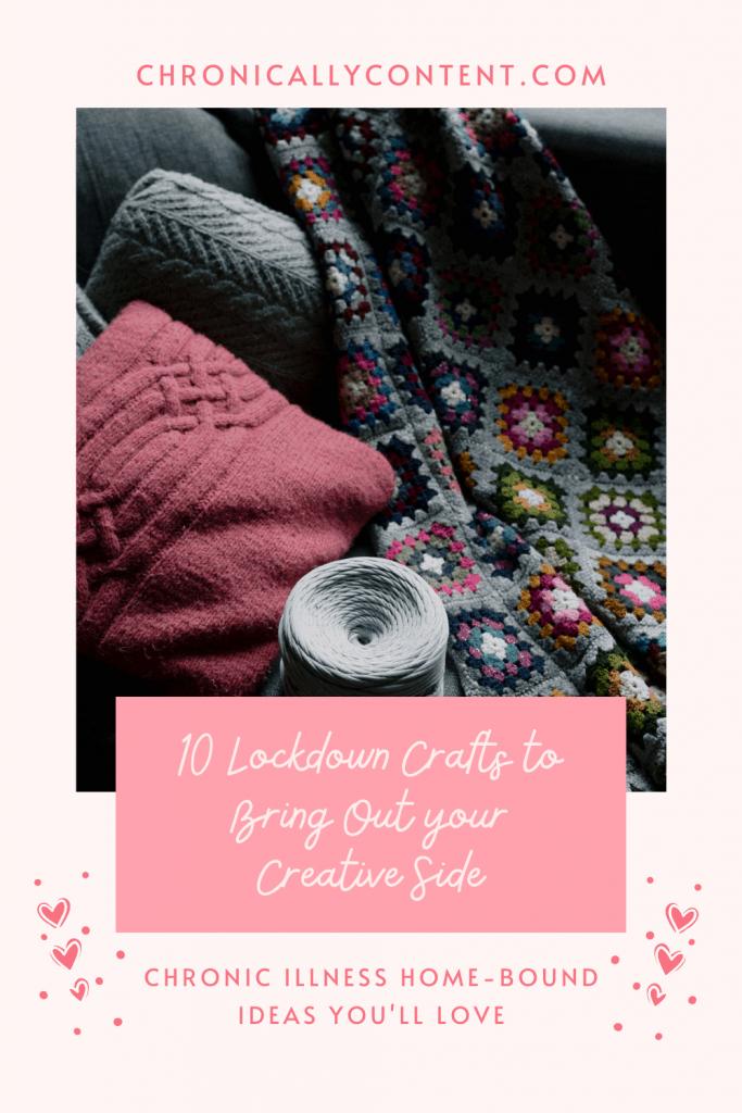 10 Lockdown Crafts - Knitted Blanket