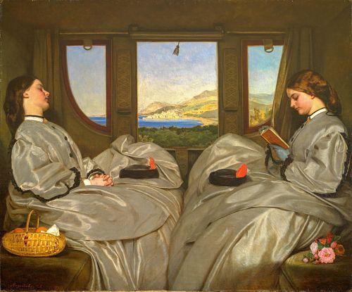 2 women on train