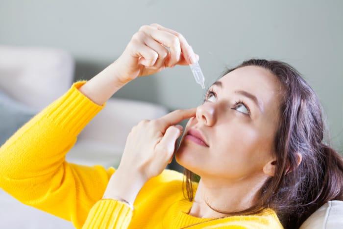 Woman Eye Drops