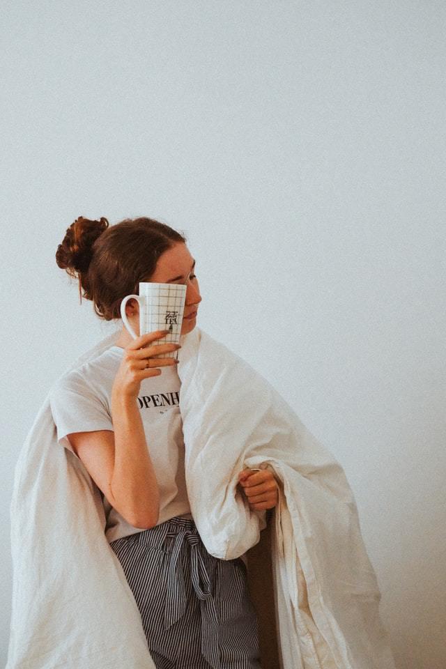 Woman in blanket